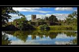The lake, Coughton Court, Warwickshire