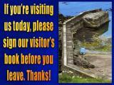 'Visitors book' slide from the Crovie & Pennan series