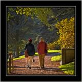 Walking with a friend, Stourhead, Wiltshire