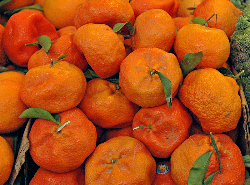 Mandarin oranges from the west of the island