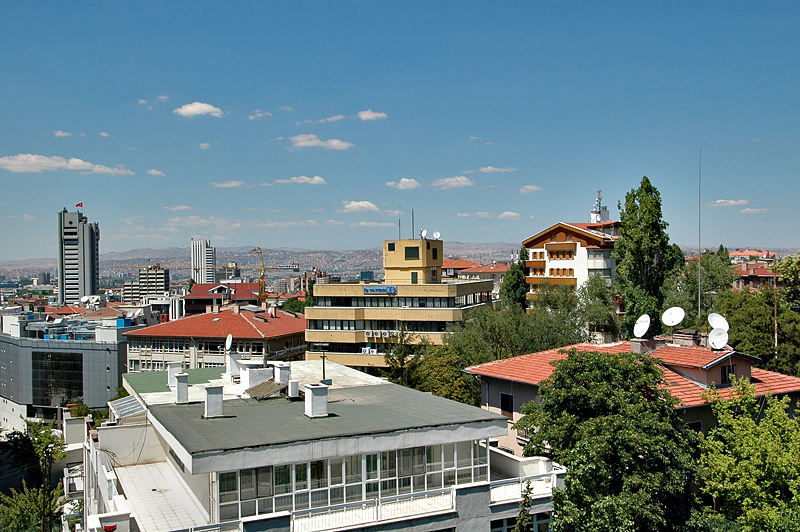 Ankara skyline from the office