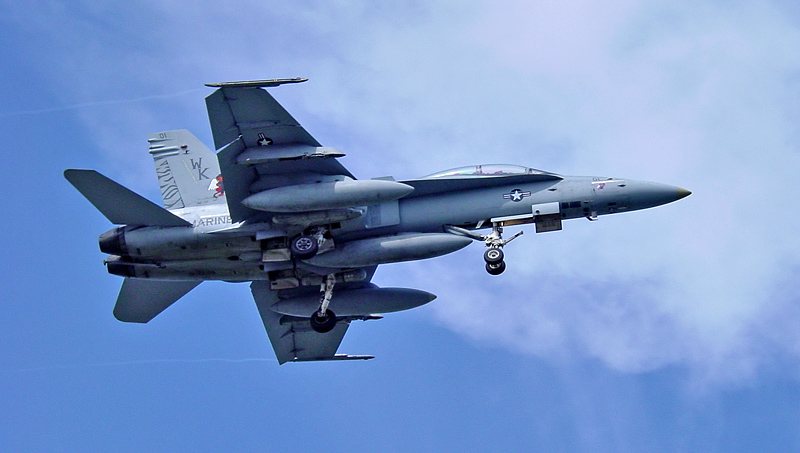 F18 over our house