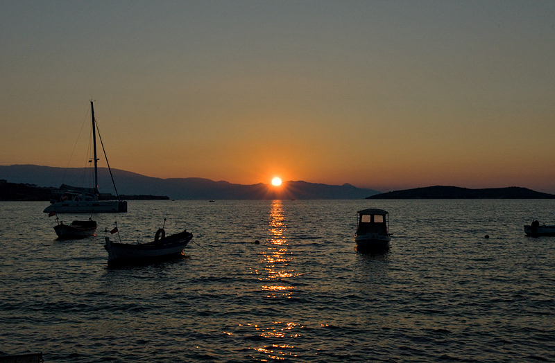 Foça, sunset