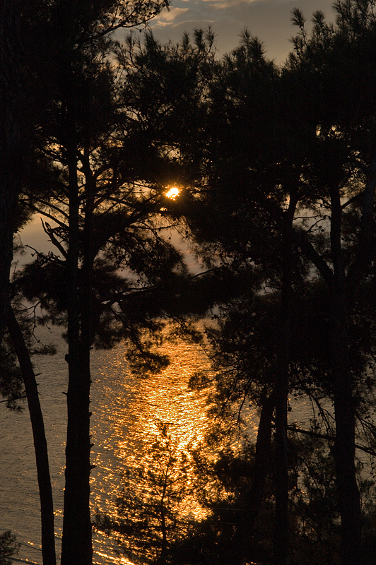 Güzelyurt, sunset on the Dardanelles