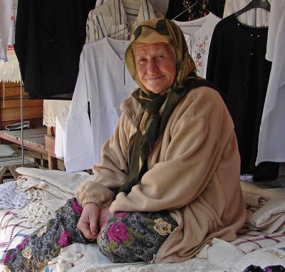 Sirince, bazaar lady