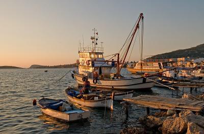 Foça, fishing fleet