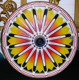 Wheel of Forepaugh Circus Columbia Band Wagon.  1902.