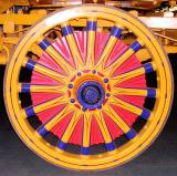 Wheel of Sparks Circus Band Wagon.  ca. 1900.