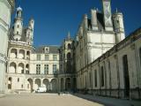Cour intérieure du château, dont la plus grande richesse fut son architecture et son histoire