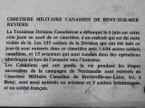 Visite du cimetière canadien à Bény-sur-Mer