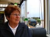 Madeleine au restaurant près de notre hôtel à Saint-Aubin-sur-Mer