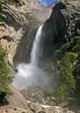 yosemite lower falls with rainbow  2