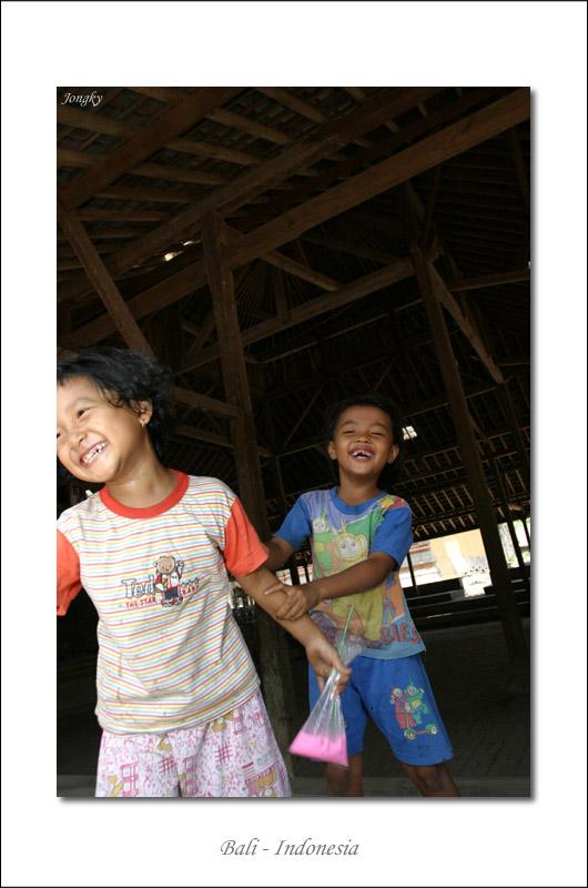 The happiest girls in Tenganan Village
