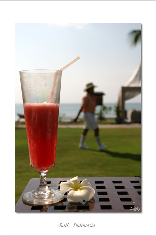 welcome drink from Bali