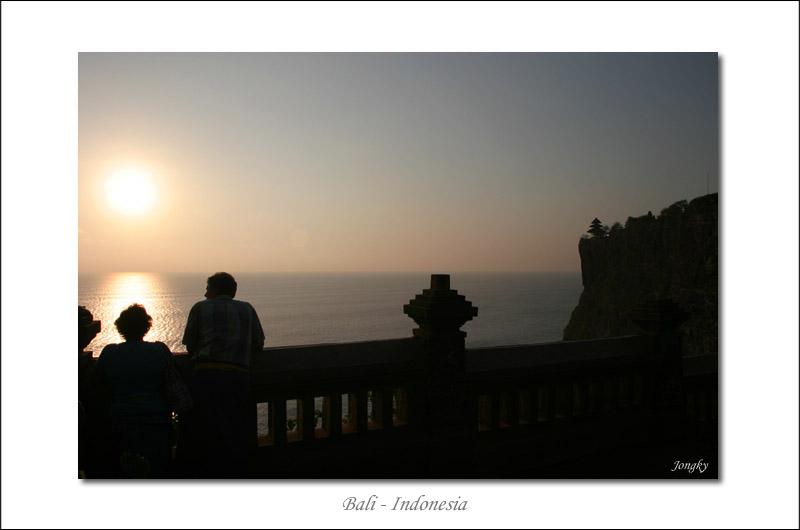 sunset at uluwatu cliff