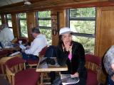 Diane relaxing in the Parlor Car