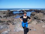 Diane at Moon Stone beach in Cambria