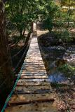 Swinging Bridge Over Pound River  10/19/05
