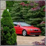 A BMW Revealed On A Stone Pavement