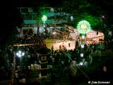 View From Balcony of Nightly Festivities