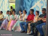 Honorable Mayor Kiko , the Fiesta Queen and her Court,  and  Military Official