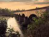 Colonial period railway bridge. Si Phan Don
