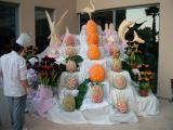 Food carvings at Queens Park Hotel