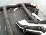 Slide and platform inflating