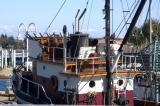 Fishing boat with  liferaft