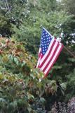 flag at Pats house