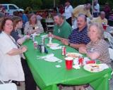 L-R, Elaine Barton,  Son David, guest,  Roy Pugh, David Merriman, and Karen Paine @ '03 reunion
