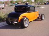 black & orange fenderless