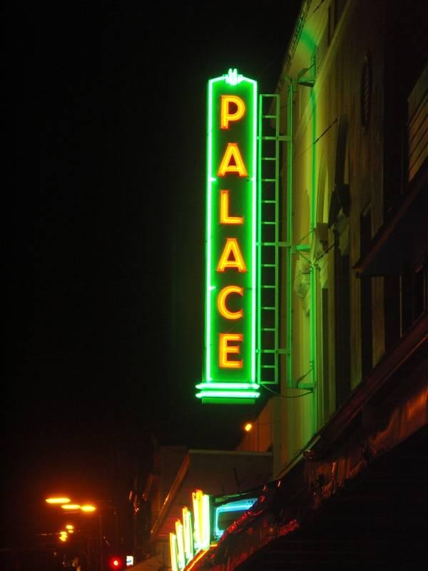 Palace theatre at night