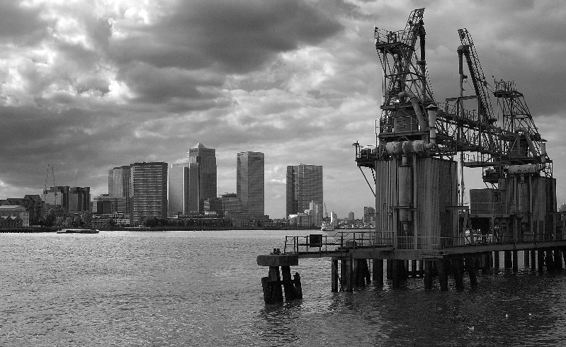 Canary Wharf Docklands from Greenwich