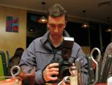 Greg with his 10D at Panarotti's