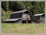 Rare barn,  two doors with ladder.