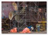 Ship repair in new harbour