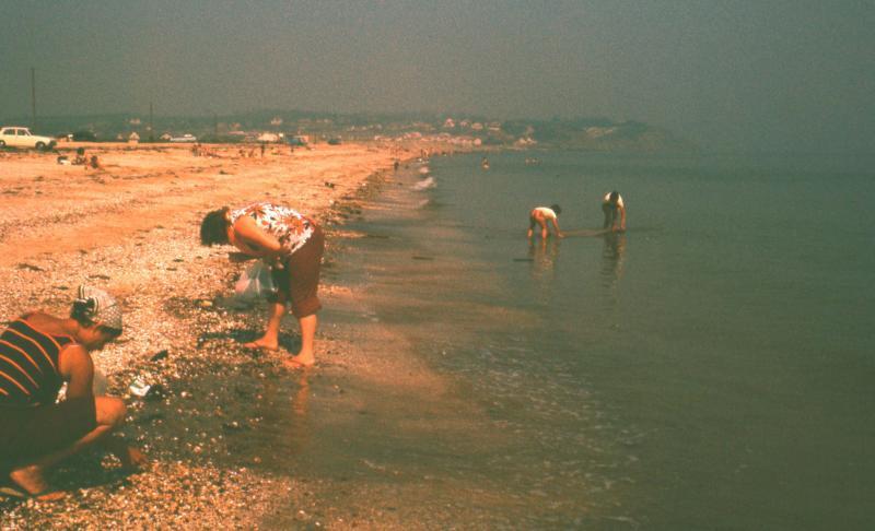 Finding gold coins on a Leysdown beach.