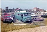 WEL 123 and Colin's Commer and C-Craft on Hayling Island beach.