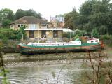 Houseboat  side view.