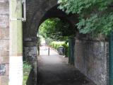 Footpath under bridge, Middlesex side.