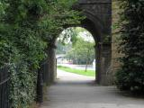 Towpath under bridge, Surrey side.
