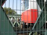 This train was going quite slowly. I expected the photo to be blurred as the bridge shakes alarmingly.