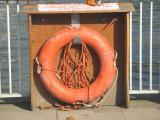 Lifebelt on Thames Embankment.