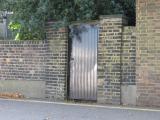 Garden back door onto the Thames Embankment.