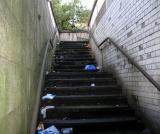 Public toilets closed. People do it on the steps now. This place smells bad.