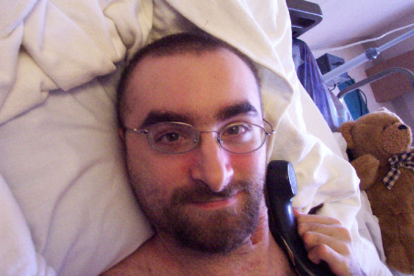 Jake in hospital, May 2005