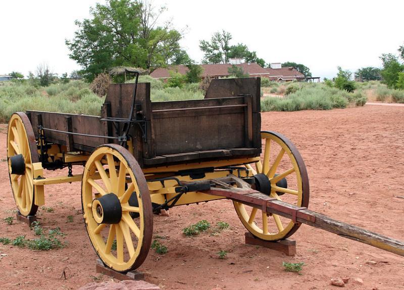 Old wagon buck board