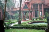 Phnom Penh, The National Museum in heavy rain