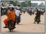 Monk on moto - Siem Reap